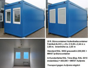 Bürocontainer in Hamburg