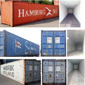 40 Fuß Container. Secontainer
